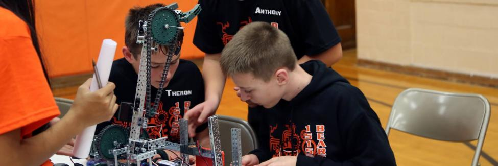 Ubly Robotics Team Members Working