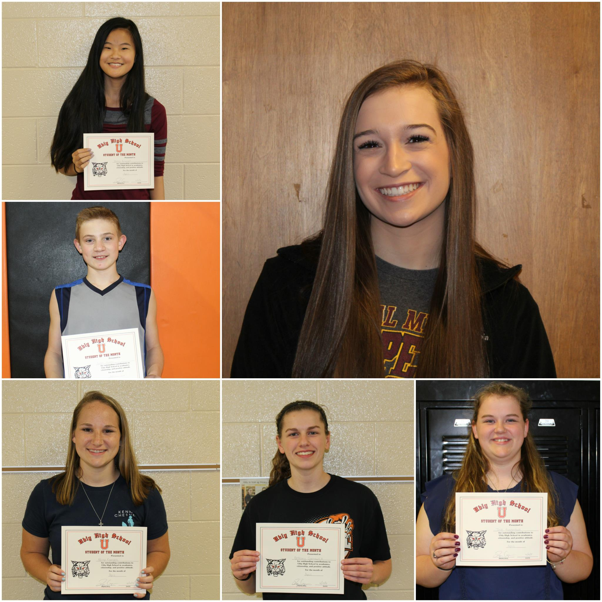 Students of the Month - March Winners